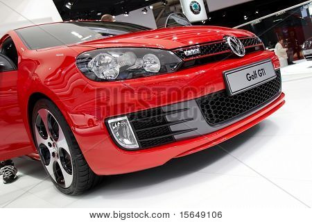 PARIS, FRANCE - OCTOBER 02: Paris Motor Show on October 02, 2008, showing Volkswagen Golf GTI, front bumper detail