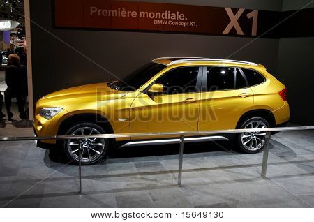 PARIS, FRANCE - OCTOBER 02: Paris Motor Show on October 02, 2008, showing BMW Concept X1, side view