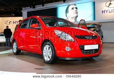 PARIS, FRANCE - OCTOBER 02: Paris Motor Show on October 02, 2008, showing Hyundai i20, front view