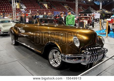 HELSINKI, FINLAND - OCTOBER 3: X-Treme Car Show, showing 1946 Buick Roadmaster 76