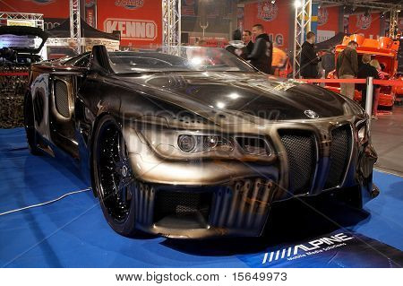 HELSINKI, FINLAND - OCTOBER 3: X-Treme Car Show, showing BMW Sinister 6 concept on October 3, 2009 in Helsinki, Finland