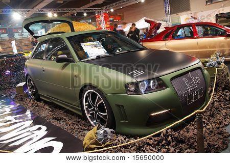 HELSINKI, FINLAND - OCTOBER 3: X-Treme Car Show, showing tuned 1998 Audi A3 on October 3, 2009 in Helsinki, Finland