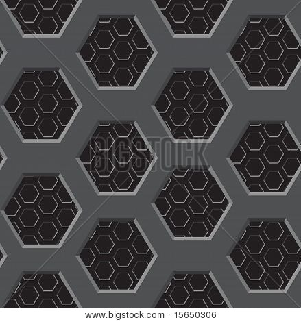 Seamless Texture - Two-layer Lattice With Six-coal Apertures