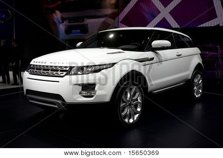 PARIS, FRANCE - SEPTEMBER 30: Paris Motor Show on September 30, 2010, showing Range Rover Evoque, front view in Paris.