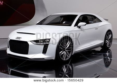 PARIS, FRANCE - SEPTEMBER 30: Paris Motor Show on September 30, 2010, showing Audi quattro concept, front view