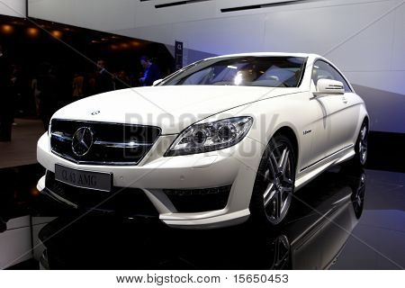 PARIS, FRANCE - SEPTEMBER 30: Paris Motor Show on September 30, 2010, Mercedes-Benz CL63 AMG, front view