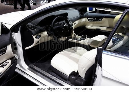PARIS, FRANCE - SEPTEMBER 30: Paris Motor Show on September 30, 2010, Mercedes-Benz CL63 AMG, interior view