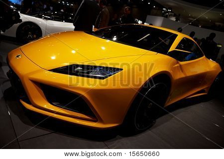PARIS, FRANCE - SEPTEMBER 30: Paris Motor Show on September 30, 2010 in Paris, Lotus Elan, front view