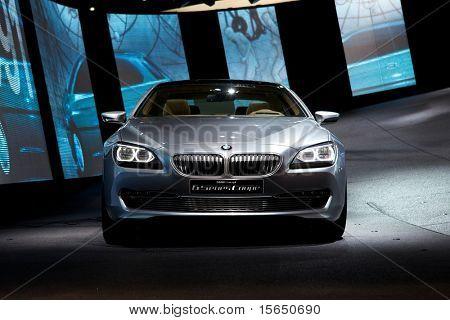 PARIS, FRANCE - SEPTEMBER 30: Paris Motor Show on September 30, 2010 in Paris, showing BMW Concept 6-series Coupe, front view