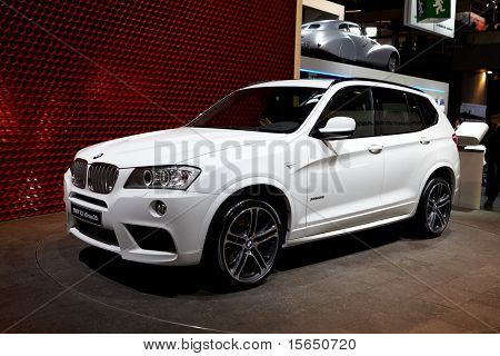 PARIS, FRANCE - SEPTEMBER 30: Paris Motor Show on September 30, 2010 in Paris, showing BMW X3, front view