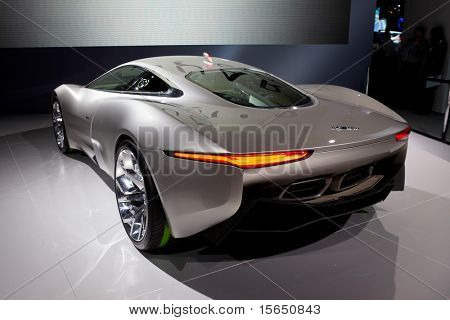 PARIS, FRANCE - SEPTEMBER 30:Jaguar C-X75 at  Paris Motor Show on September 30, 2010 in Paris