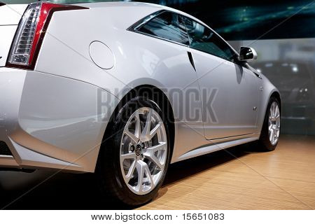 PARIS, FRANCE - SEPTEMBER 30: Paris Motor Show on September 30, 2010 in Paris, showing Cadillac CTS Coupe, rear-side closeup view