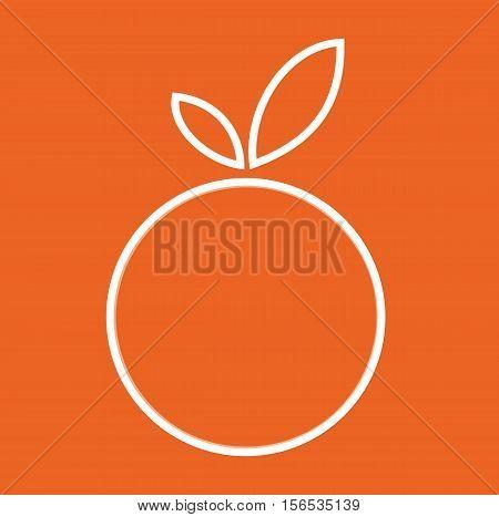 Orange Fruit Eco Sign - Orange Mordern Abstract For Logos, Banners, Templates, Internet Web Sites - Flat Icon Vector Illustration Stock EPS