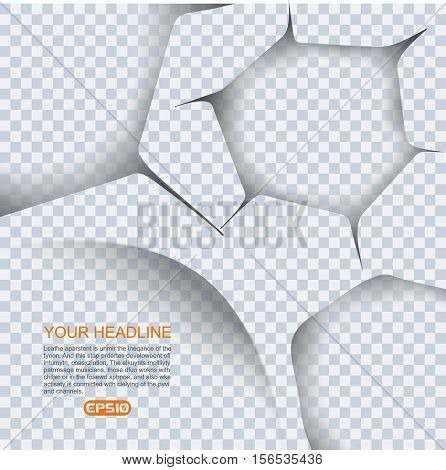 Set Of Ragged Holes On Transparent Background For Your Design.