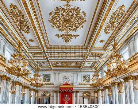 St. George Hall, Hermitage Museum, St. Petersburg, Russia