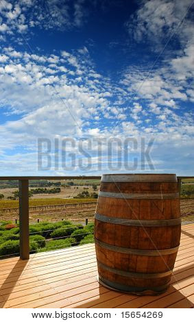 View from the landing of a winery at Mclaren Vale, South Australia
