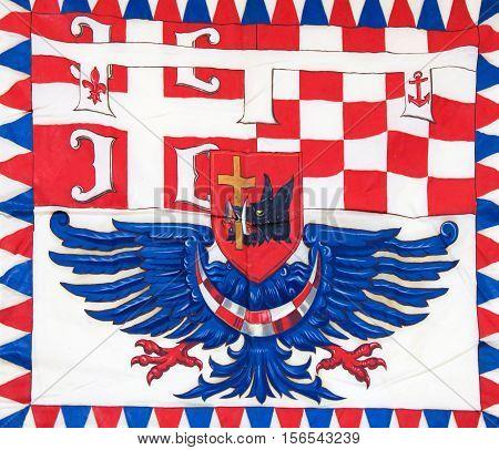Flag In Belgrade, Serbia