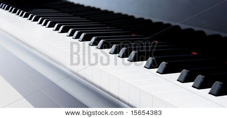 Abstract Closeup of Grand Piano keys