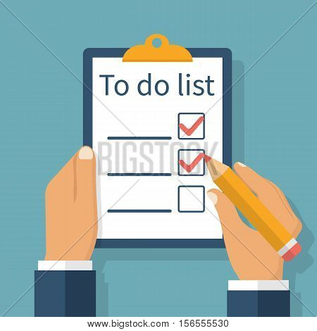 To Do List In Hand