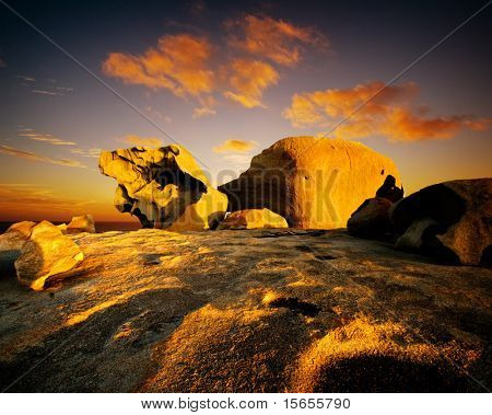 Sunset over Remarkable Rocks, Kangaroo Island