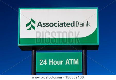 Associated Bank Exterior Sign And Logo