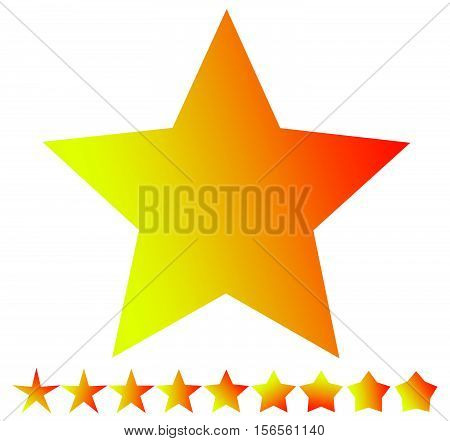 Star Shape With Thin And Thick Versions - Star Icon, Star Symbol