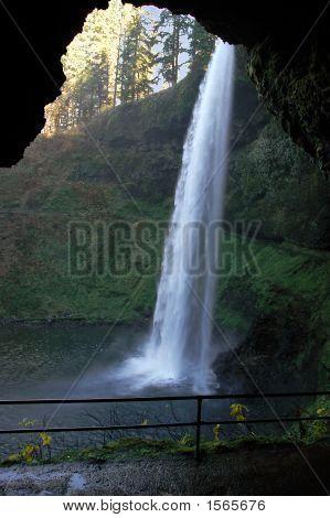 Water Cave At Silver Falls