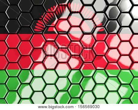Flag Of Malawi, Hexagon Mosaic Background