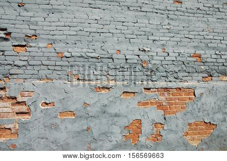 Painted Historic Brick Wall in Southern Town