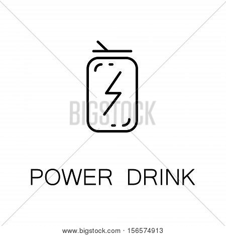 Power drink flat icon. Single high quality outline symbol of energy drink for web design or mobile app. Thin line signs of energy drink for design logo, visit card, etc. Outline pictogram of energy drink