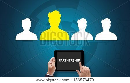 Partnership  And Leader Corporate Team , Font Partnership