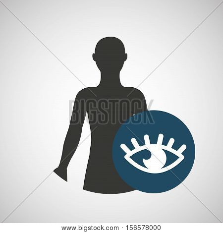 silhouette man health optics icon vector illustration eps 10