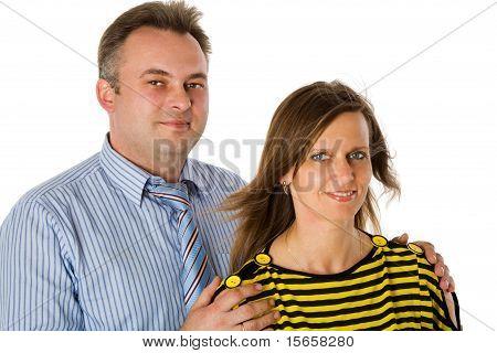 Meio envelhecido casal
