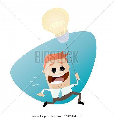 smart businessman with idea balloon