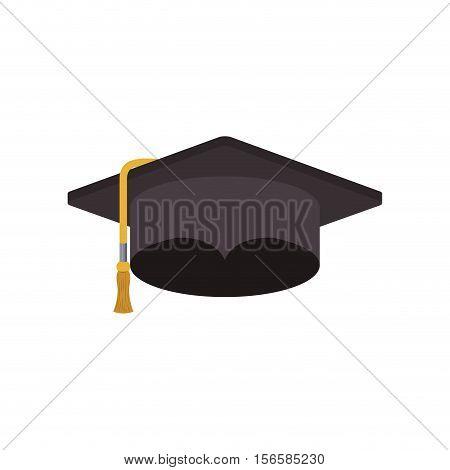 Graduation cap icon. Graduation university education and school theme. Isolated design. Vector illustration