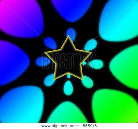 Superstar Rainbow Background