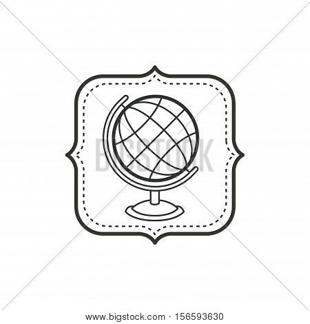Planet sphere icon. School education learning and knowledge theme. Isolated design. Vector illustration