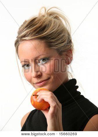 blonde portrait woman