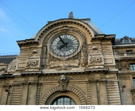 Gable Of The Museum D'Orsay In Paris