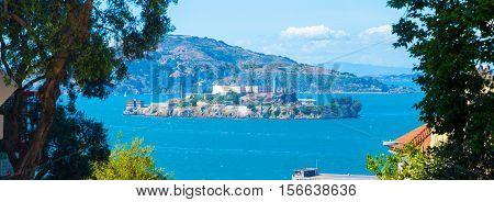 Panoramic Alcatraz Island San Francisco Summer