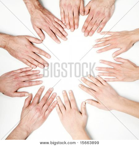 Hands of the group
