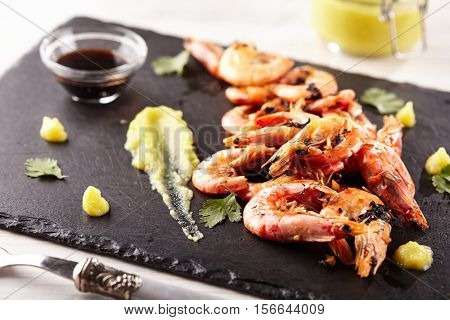 Pan Seared Shrimp with Garlic-Lime Butter