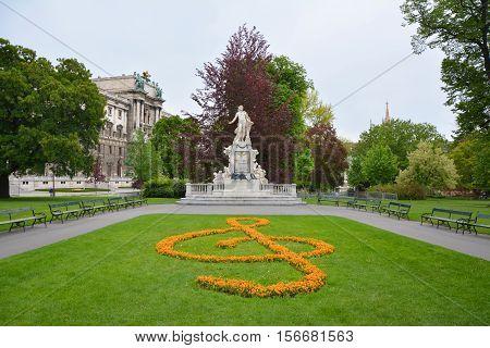 Statue Of Mozart In Vienna
