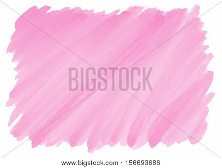 pink watercolor background with visible brushstrokes and frayed edges