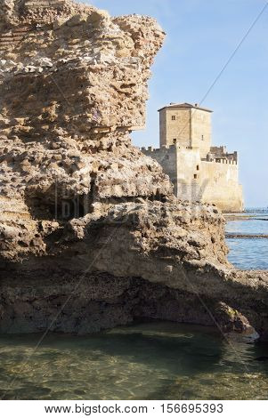 torre astura the castle near Rome immersed in the sea