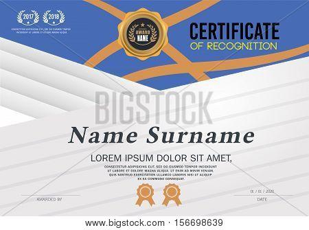 certificate template. Certificate A4 Size, Certificate lay out. Certificate