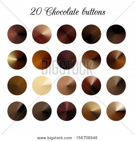 Brown Tone Color Shade Background, chocolate gradient swatches.