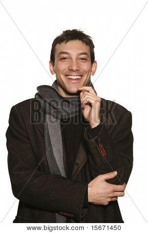 young man portrait in studio