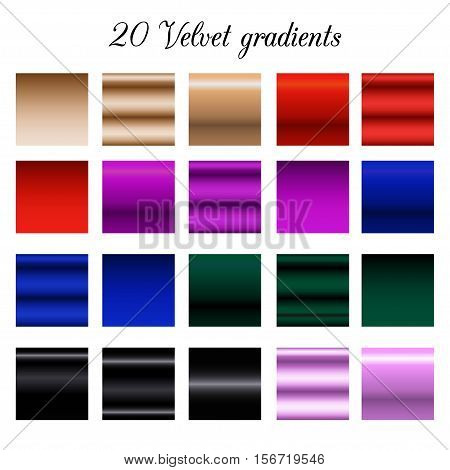 Black velvet Tone Color Shade Background, velvet gradient swatches.