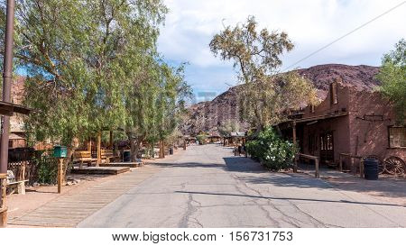 the nice Ghost Town of Calico in California